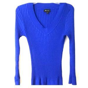 Royal Blue Ribbed Sweater